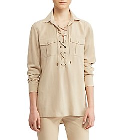 Lauren Ralph Lauren®  Lace-Up Crepe Tunic