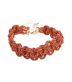 Erica Lyons® Seed Bead Multi Braided Choker Necklace