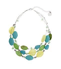 Erica Lyons® Lime A Rita Short Illusion Necklace