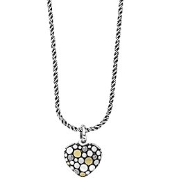 Effy® Sterling Silver & 18K Yellow Gold  0.08 Ct. T.W. Diamond Pendant