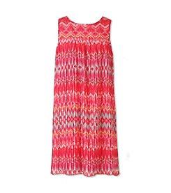 Speechless® Girls' 7-16 Crystal Pleat Chiffon Shift Dress