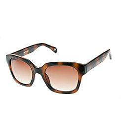 Nine West® Plastic Medium Chunky Square Sunglasses