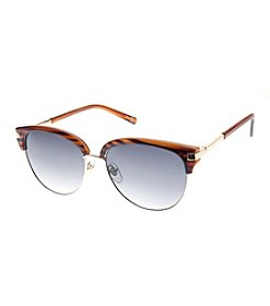 Nine West® Large Combo Round Retro Square Sunglasses
