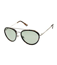 Nine West® Medium Combo Round Aviator Sunglasses