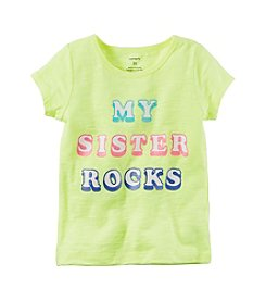 Carter's® Baby Girls' My Sister Rocks Graphic Tee