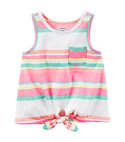 Carter's® Baby Girls' Multi Striped Tie Front Tank Top
