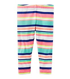 Carter's® Girls' 2T-8 Striped Capri Leggings