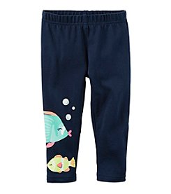 Carter's® Girls' 2T-8 Fish Print Capris