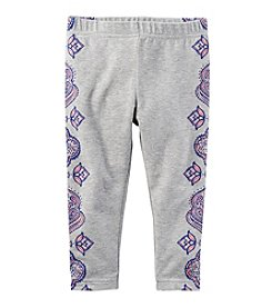 Carter's® Girls' 2T-8 Side Print Capri Leggings