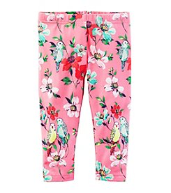Carter's® Girls' 2T-8 Floral Print Capri Leggings