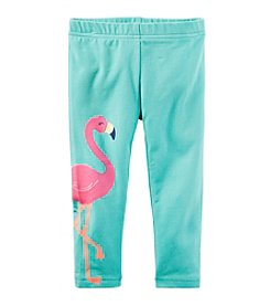 Carter's® Girls' 2T-8 Flamingo Print Capri Leggings