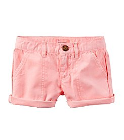 Carter's® Girls' 2T-8 Twill Shorts