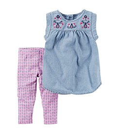 Carter's® Girls' 2T-8 Tank With Pink Printed Legging Set