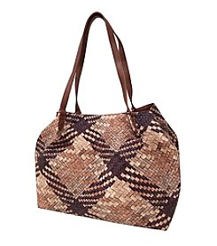 GAL Printed Woven Convertible Tote With Luggage ID Tag
