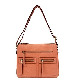 GAL Vegan Tan Multi Pocket Organizer Crossbody