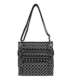 GAL Printed Three Zip Pocket Crossbody