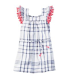 Carter's® Girls' 2T-6X Pop Pom Trim Dress