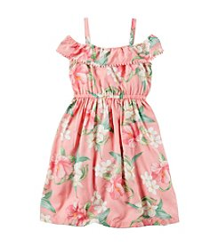 Carter's® Girls' 2T-6X Floral Maxi Poplin Dress