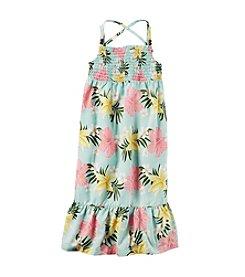 Carter's® Girls' 2T-8 Floral Maxi Poplin Dress