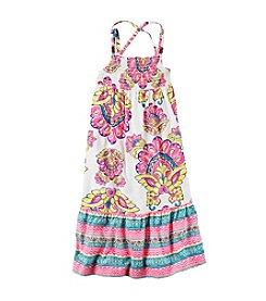 Carter's® Girls' 2T-8 Neon Print Maxi Poplin Dress