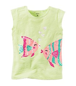 Carter's® Girls' 2T-4T Sequined Fish Tee