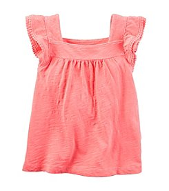 Carter's® Girls' 2T-8 Flutter Sleeve Tank Top