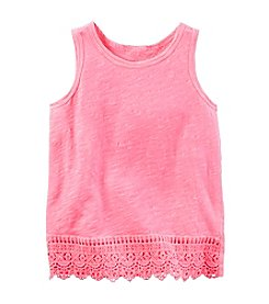 Carter's® Girls' 2T-8 Lace Trim Tank Top
