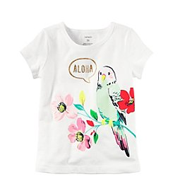 Carter's® Girls' 2T-8 Aloha Parrot Tee