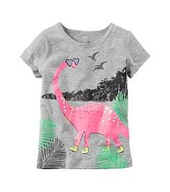 Carter's® Girls' 2T-8 Dinosaur Skates Tee
