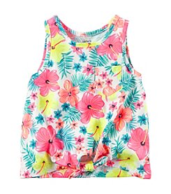 Carter's® Girls' 2T-8 Floral Print Tie Front Tank Top