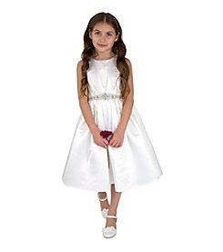 Lavender Girls' 4-6X Satin Ballerina Dress with Embellished Belt