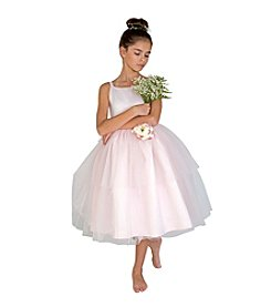 US Angels Girls' 2T-6X Ballerina Dress With Flower Sash