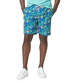 Chaps® Men's Tropical-Print Swim Trunk