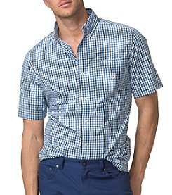 Chaps® Men's Short-Sleeve Gingham Poplin Shirt