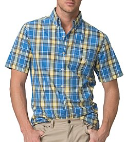 Chaps® Men's Short-Sleeve Plaid Poplin Shirt
