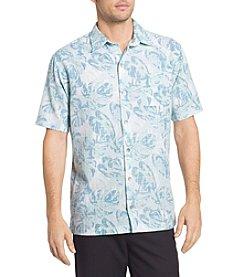 Van Heusen® Men's Oasis Fan Leaves Printed Dobby Point Collar Shirt