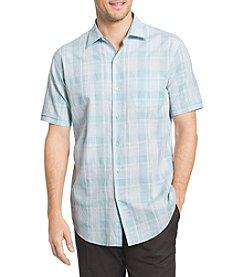 Van Heusen® Men's White Washed Slub Dobby Plaid Button Down