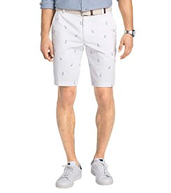 Izod® Men's Flat Front Printed Anchor Shorts