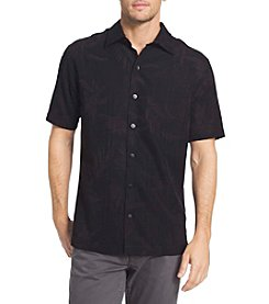 Van Heusen® Men's Big & Tall Poly Print Short Sleeve Woven Button Down