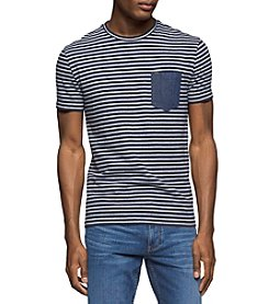 Calvin Klein Jeans® Men's Stripe Crew Tee With Denim Pocket