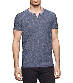 Calvin Klein Jeans® Men's Slub End On End Slit Neck Tee