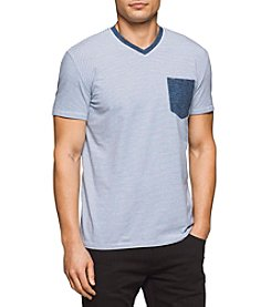 Calvin Klein Jeans® Men's Mini Stripe V-Neck Tee