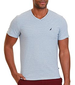 Nautica® Men's Short Sleeve New Stripe V-Neck Tee