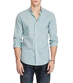 Polo Ralph Lauren® Men's Long Sleeve Stretch Poplin Button Down Shirt