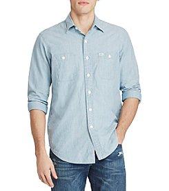 Polo Ralph Lauren® Men's Solid Chambray Short Sleeve Button Down Shirt