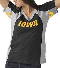 G III NCAA® Iowa Hawkeyes Women's Sideline Tee