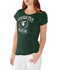 G III NCAA® Michigan State Spartans Women's End Zone Short Sleeve Tee