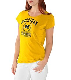 G III NCAA® Michigan Wolverines Women's End Zone Short Sleeve Tee