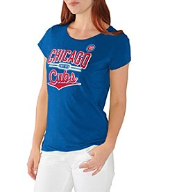 G III MLB® Chicago Cubs Women's Varsity Scoop Short Sleeve Tee