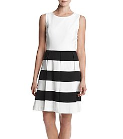 Nine West® Fit and Flare Striped Dress